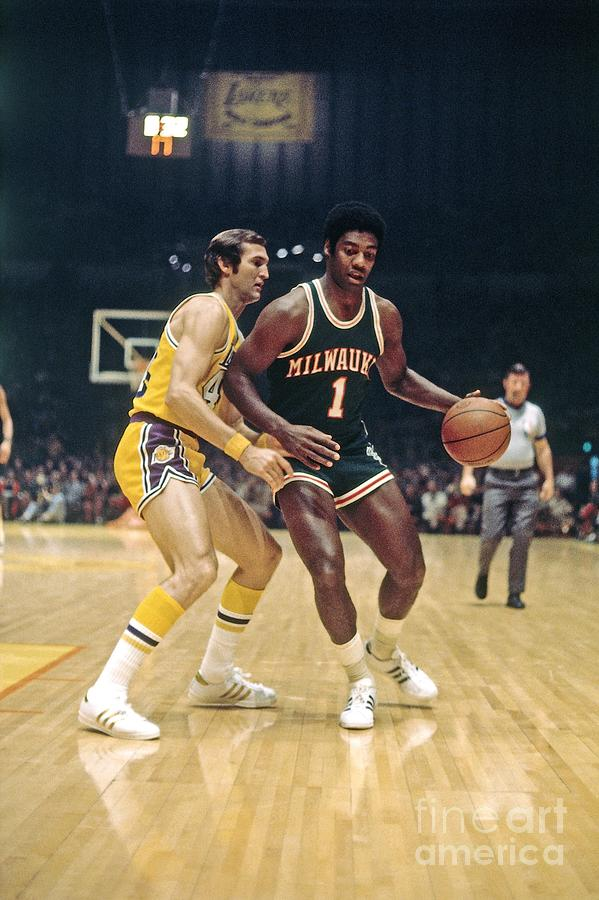 Oscar Robertson and Jerry West Photograph by Wen Roberts