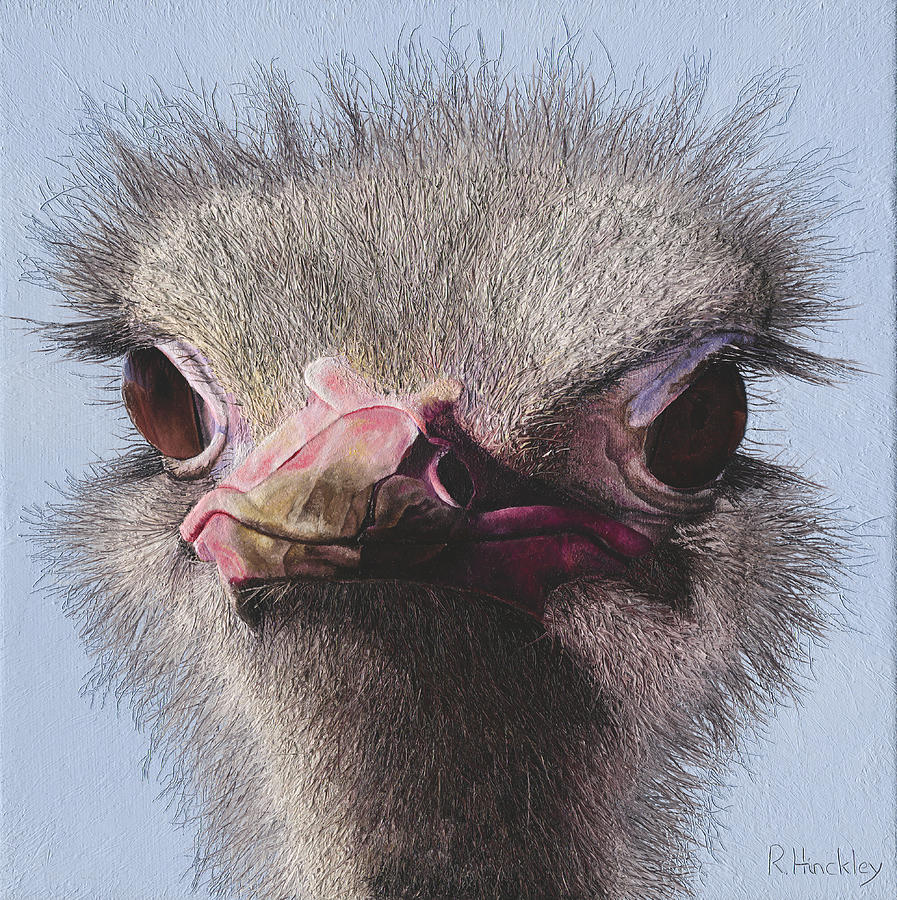 Ostrich Painting - Ostrich II by Russell Hinckley