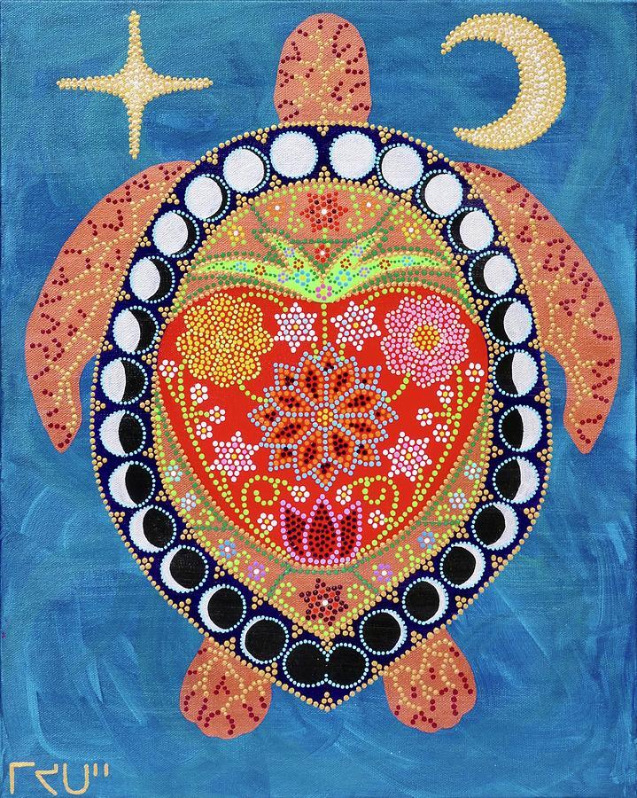 Culture Painting - Otehimin Pisim Heartberry Moon by Karlee Fellner