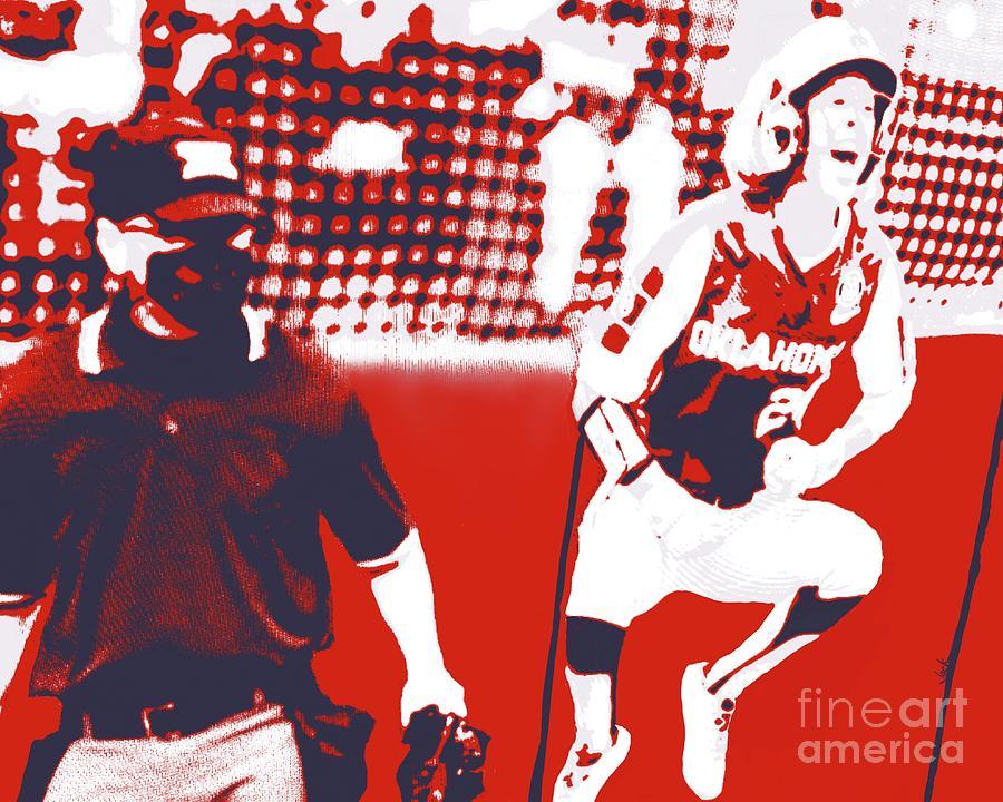 Softball Painting - OU National Champions by Jack Bunds