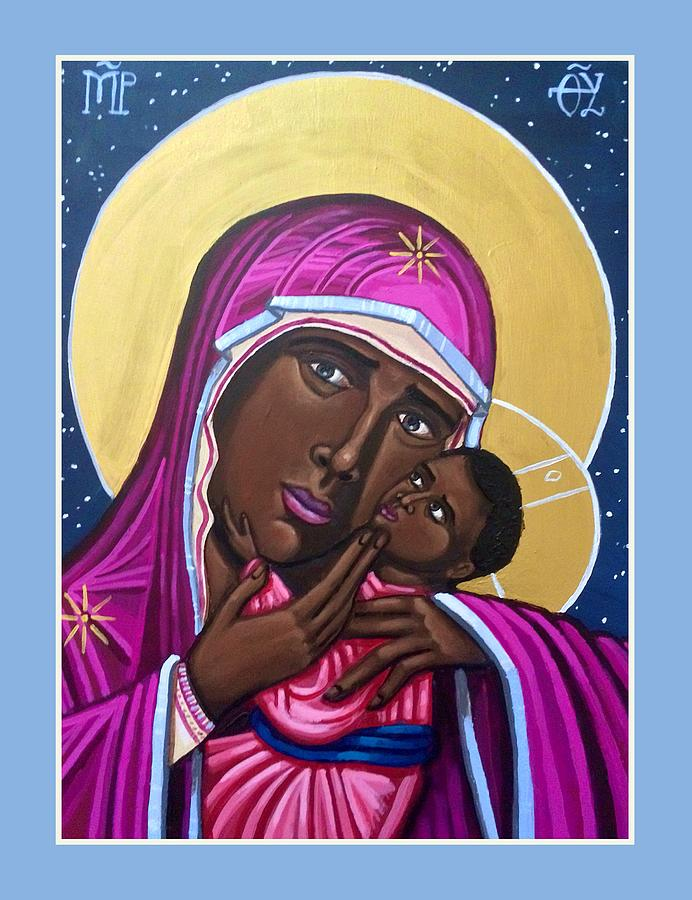 Our Lady Mother of the Streets Painting by Kelly Latimore