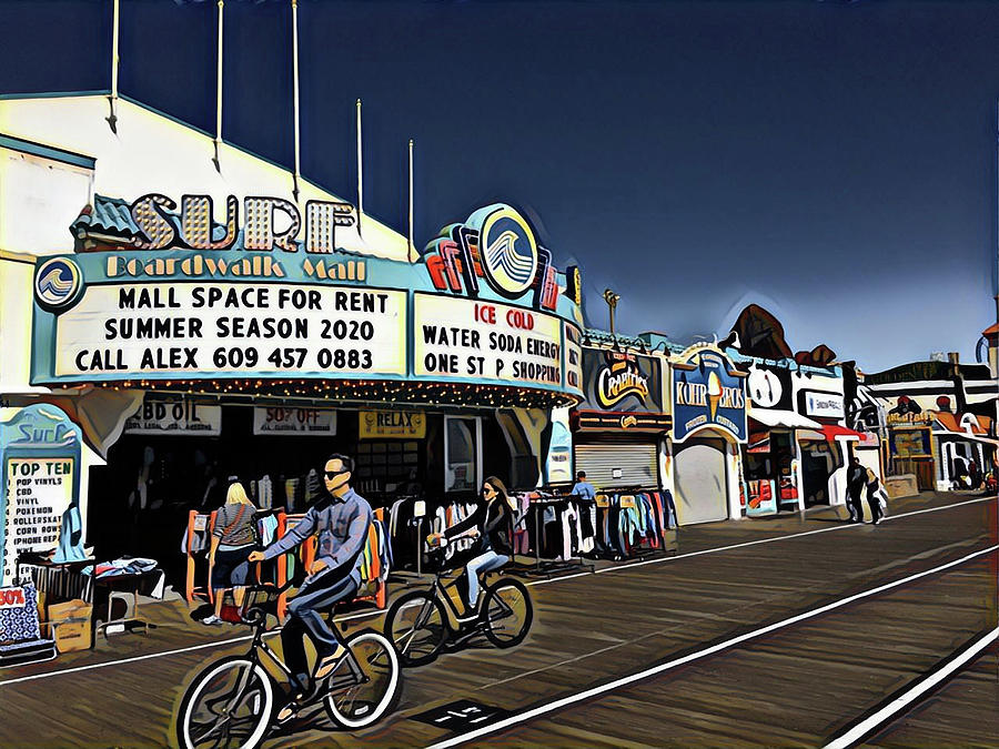 Out For A Ride On The Boardwalk Digital Art