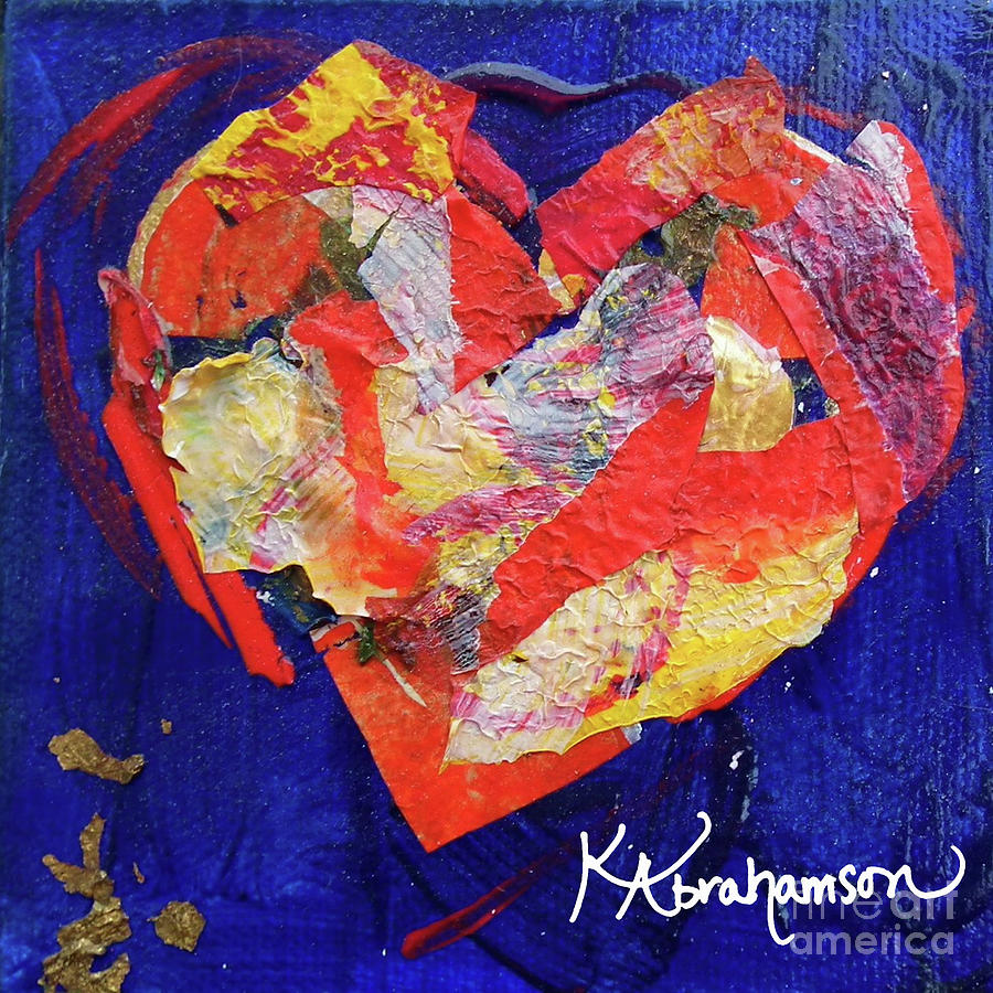 Out of the Blue Heart Painting by Kristen Abrahamson