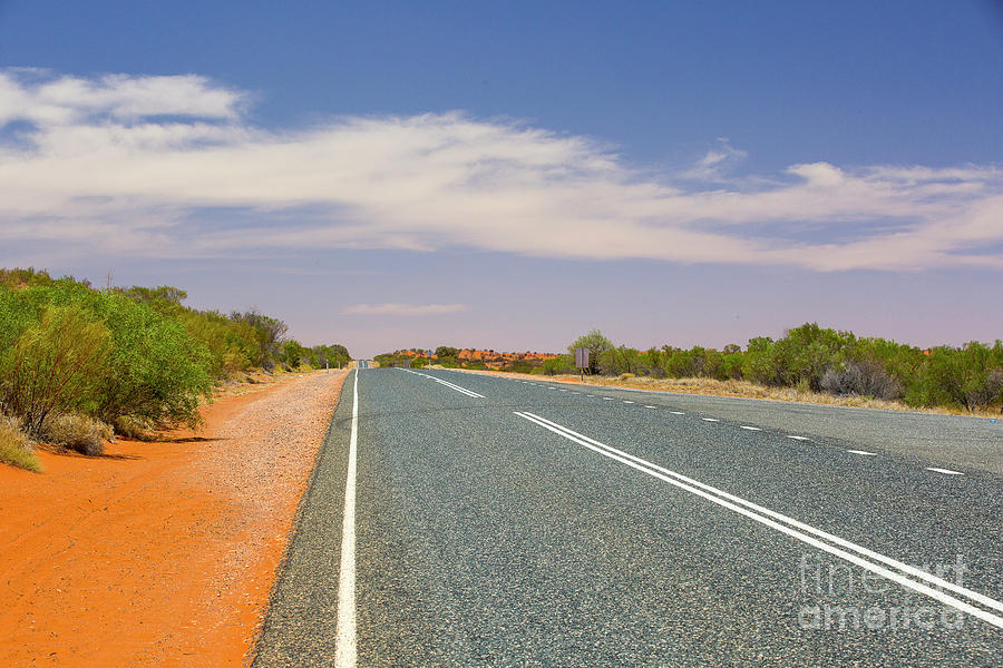 Outback highway by Agnes Caruso