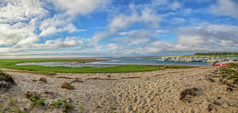 Outermost Harbor Morning Panoramic by Marisa Geraghty Photography
