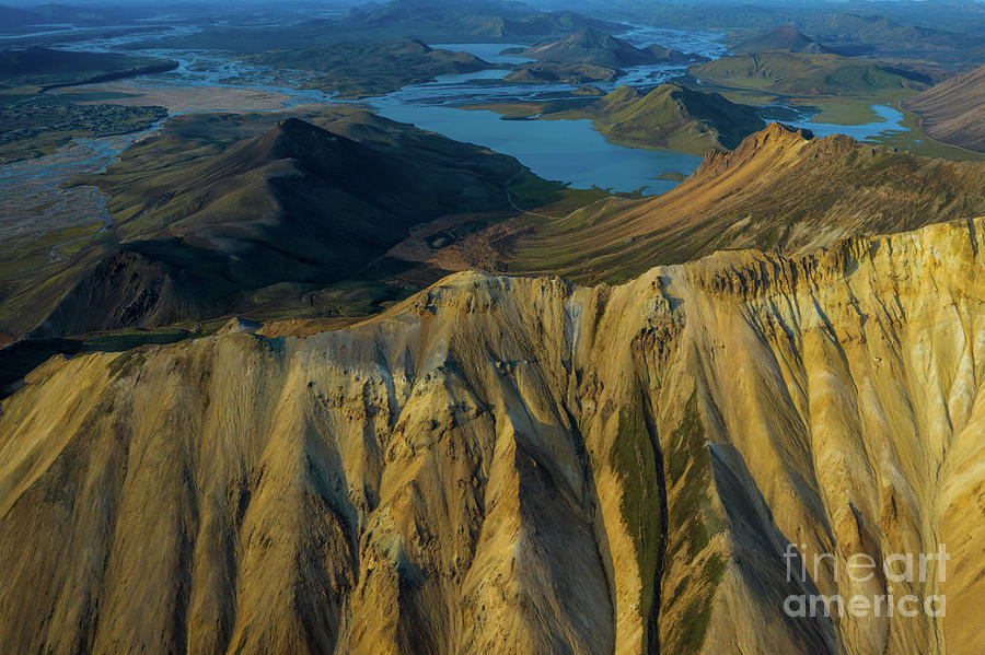 Iceland Photograph - Over Iceland Barmur Ridge And Beyond by Mike Reid