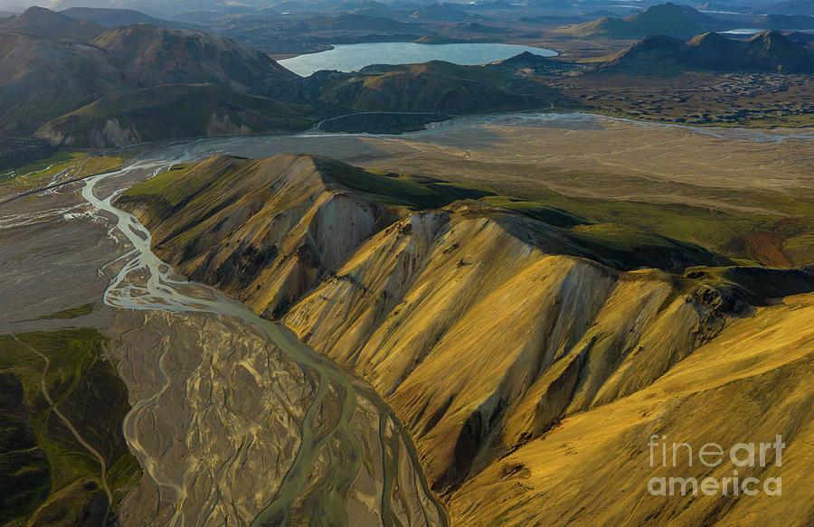 Iceland Photograph - Over Iceland Barmur Ridge Dusk Light by Mike Reid