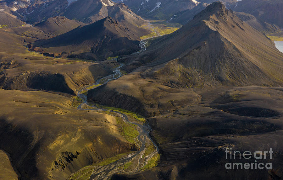 Iceland Photograph - Over Iceland Highlands Hills Of Rhyolite by Mike Reid