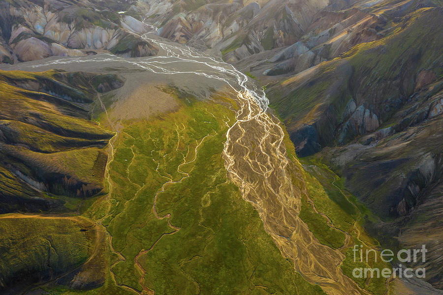 Over Iceland Landmannalaugar Vondugil Valley by Mike Reid