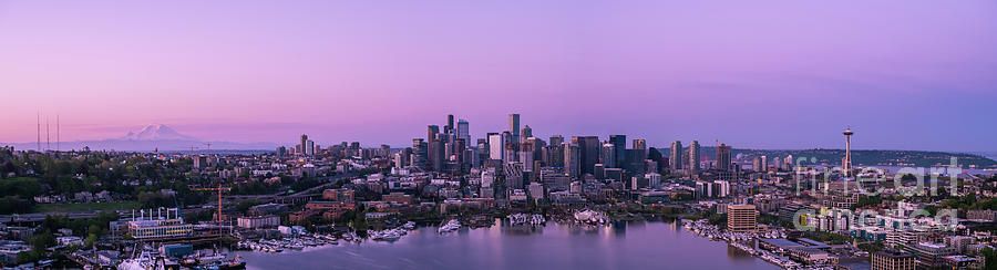 Over Seattle The Ever Changing Skyline Photograph