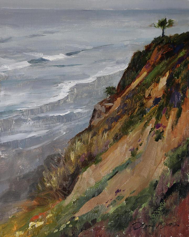 California Painting - Overcast Morning, Beacons Beach by Anna Rose Bain