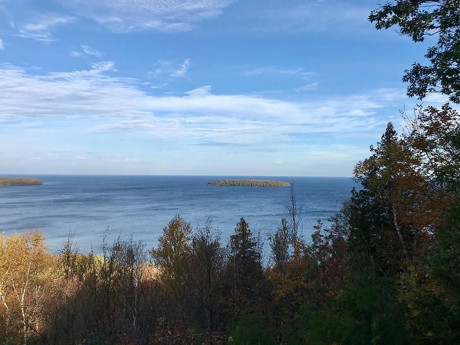 Peninsula State Park Photograph - Overlooking Svens Bluff by Diane Sleger