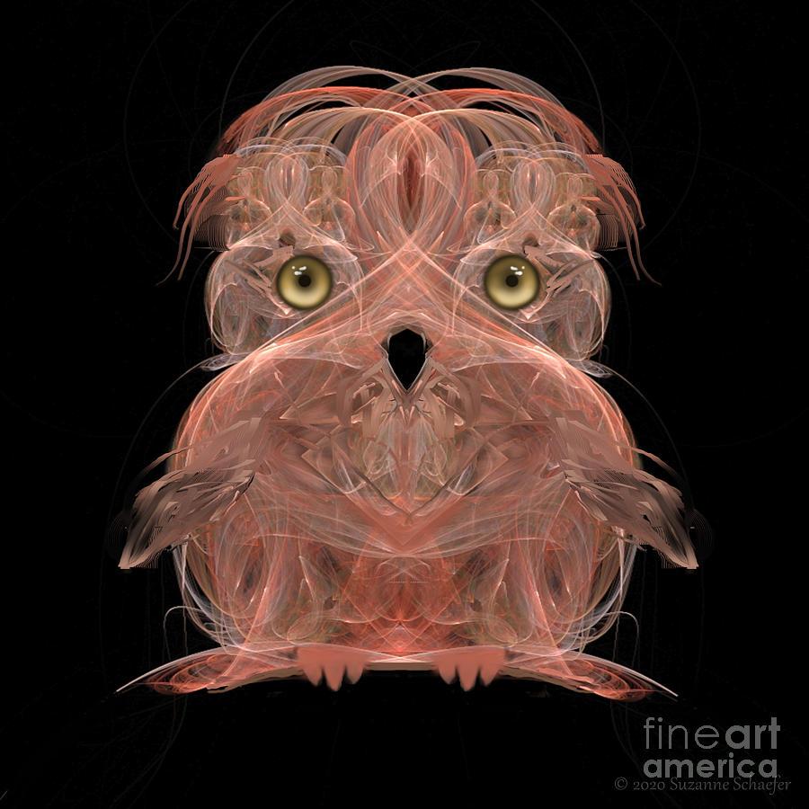 Fractal Owl Weekender Bag