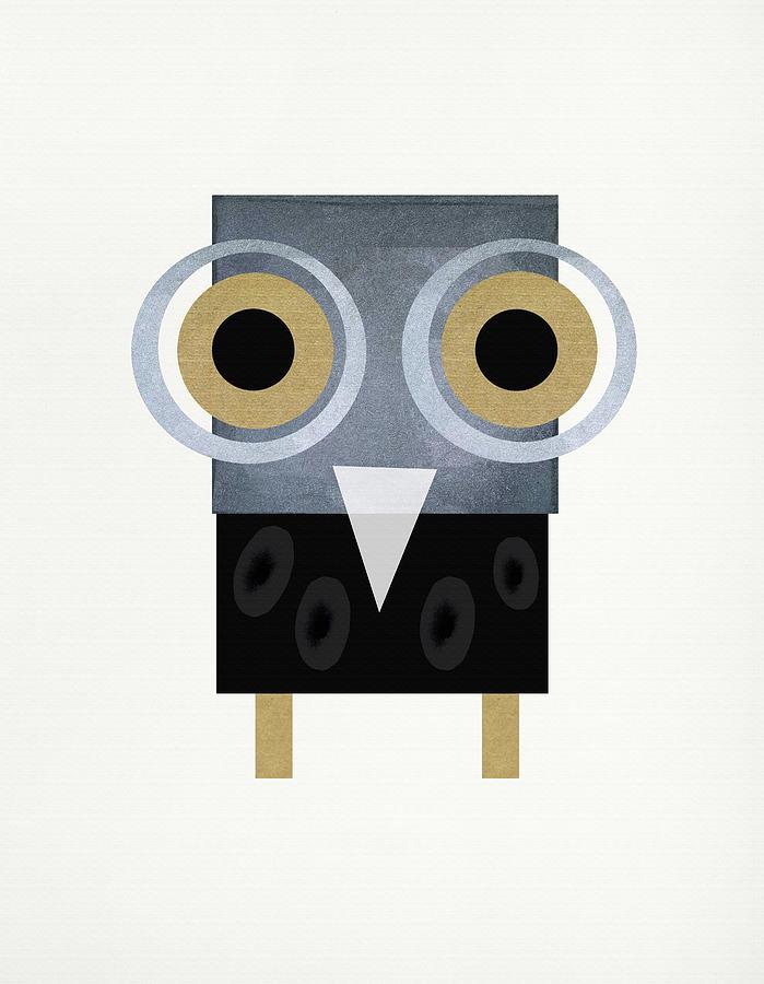 Owl Digital Art by SOUENTOS - souvenirsycuentos - Viola Mari Ekong