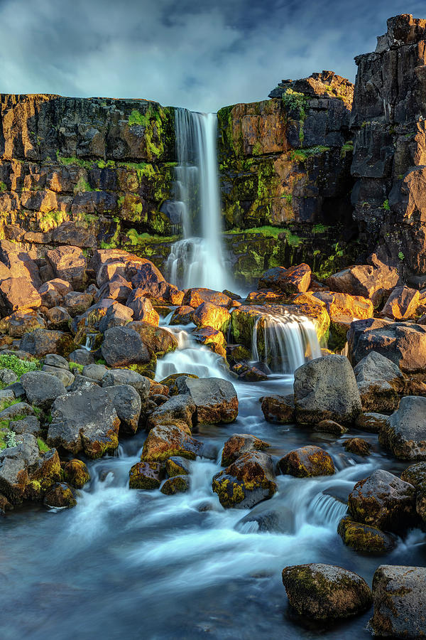 Oxararfoss In Southwest Iceland Photograph