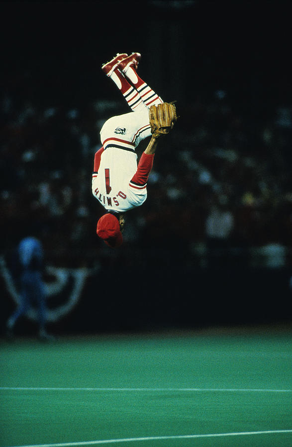 Ozzie Smith Photograph by Ronald C. Modra/sports Imagery