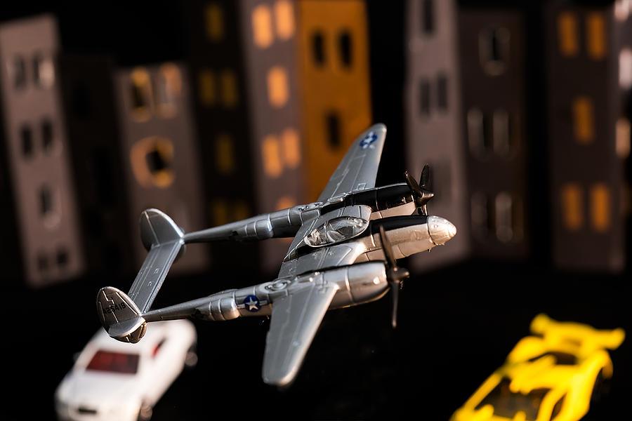All Metal 1941 Lockheed P-38 Lightning Fighter Model