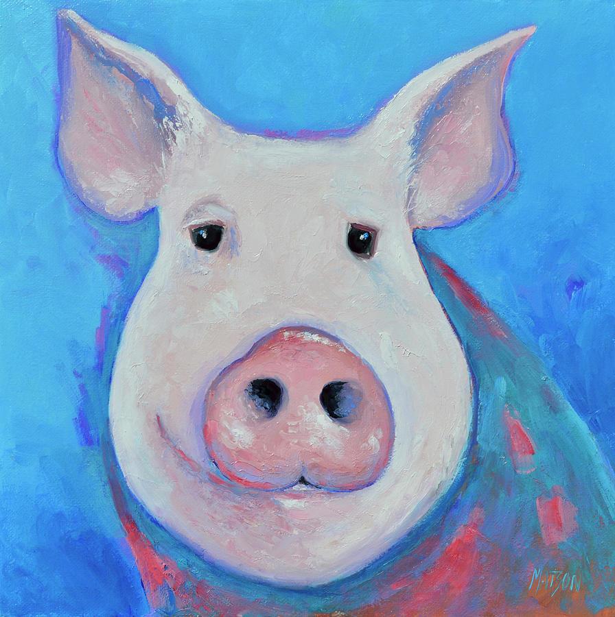 Pablo Pig Painting