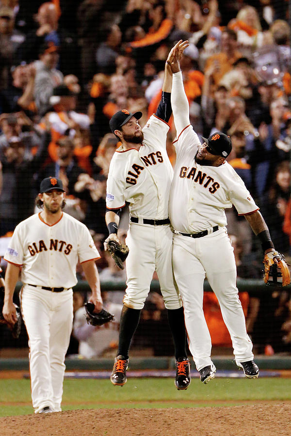 Pablo Sandoval and Brandon Belt Photograph by Thearon W. Henderson