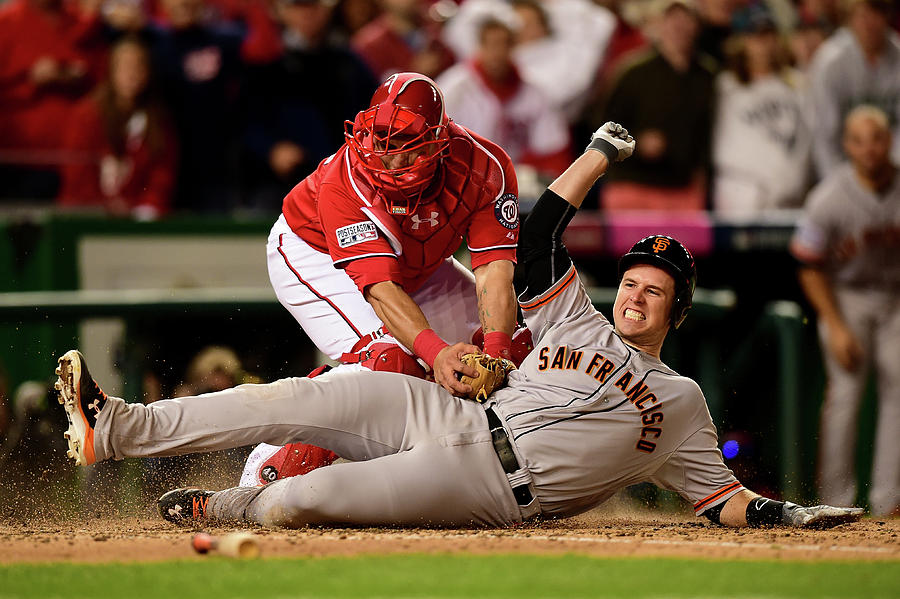 Pablo Sandoval, Wilson Ramos, And Buster Posey Photograph by Patrick Smith