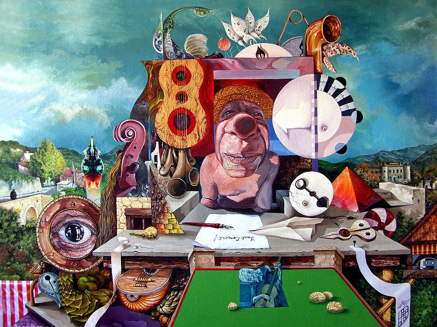 Surrealism Painting - Pablos Last Concert by Otto Rapp