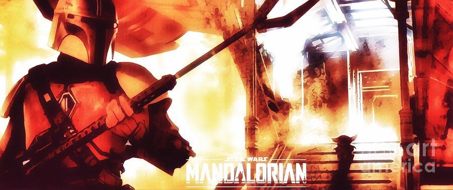 The Mandalorian Digital Art by HELGE Art Gallery