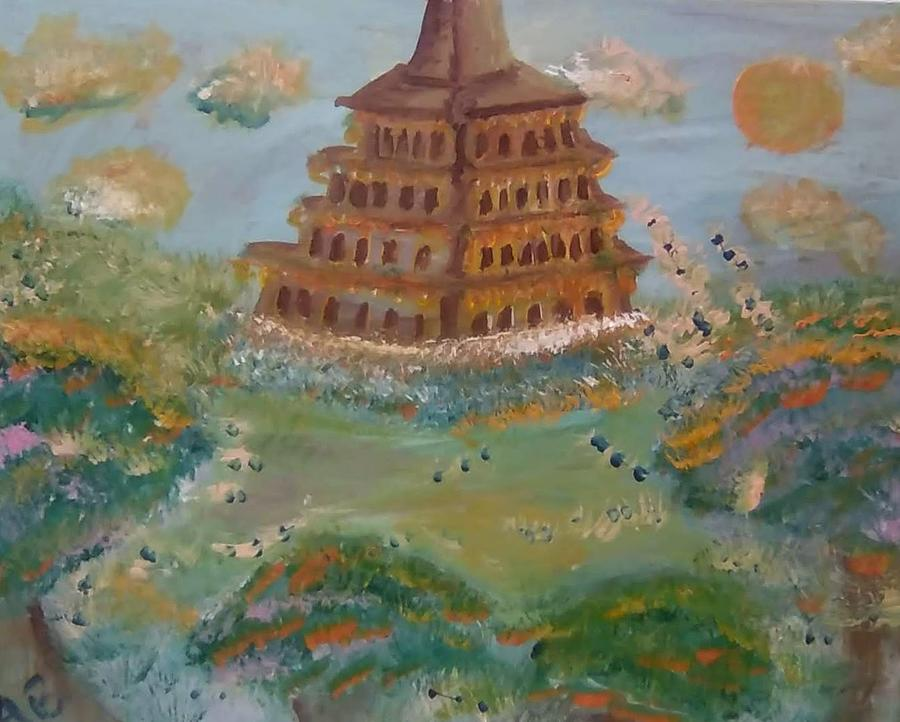 Architecture Painting - Pagoda Rococo by Andrew Blitman