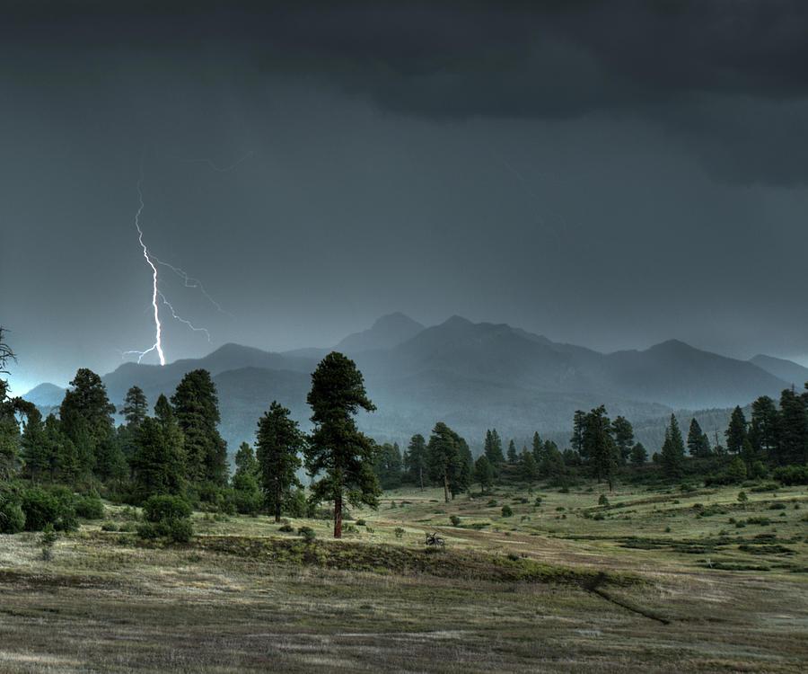Pagosa Springs Co Photograph - Pagosa Peak Storm by Mark Langford