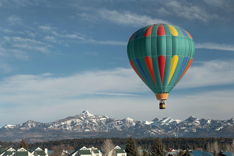 Hot Air Balloons Photograph - Pagosa Springs Balloon Fest-3  1-26-20 by Mark Langford