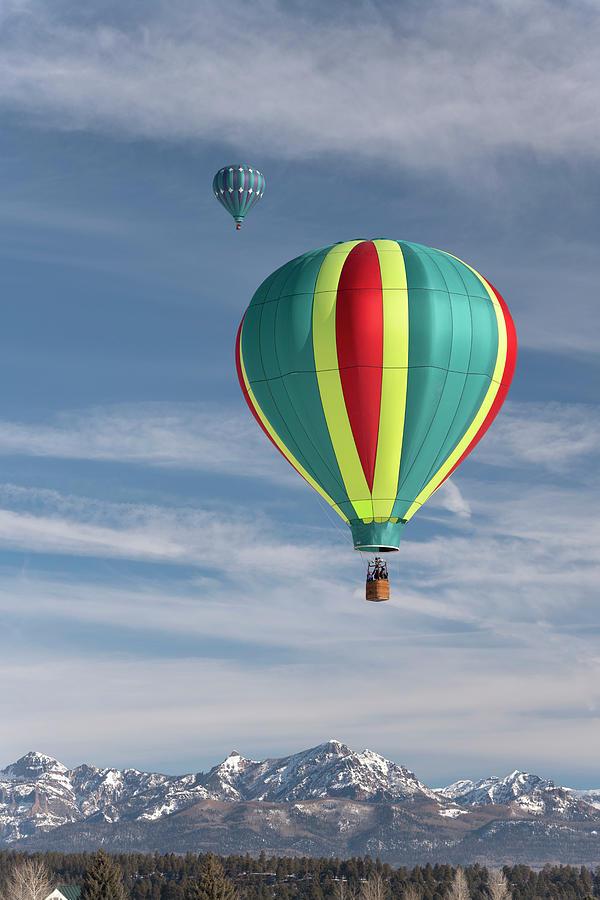 Hot Air Balloons Photograph - Pagosa Springs Balloon Fest-4 by Mark Langford