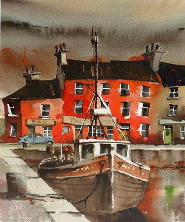 Padregeens Pub, Galway docks by Val Byrne