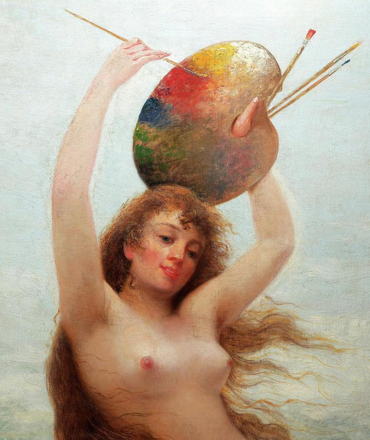 Almeida Painting - Paint, Allegory, 1892 by Almeida Junior