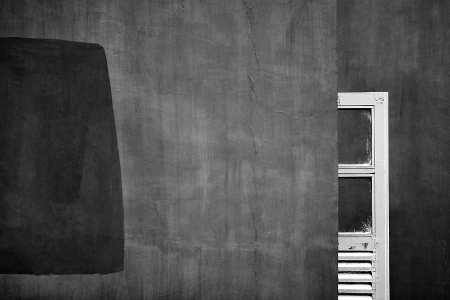 Open Window Photograph - Paint Patch Vs Partial Window by Prakash Ghai