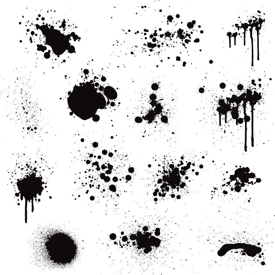 Paint Splatter Drawing by Enjoynz