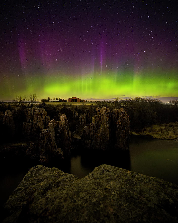 Aurora Borealis Photograph - Paint you with my Love by Aaron J Groen