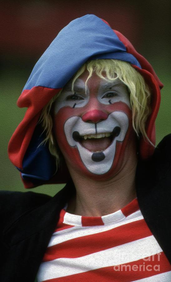 Painted Clown Photograph