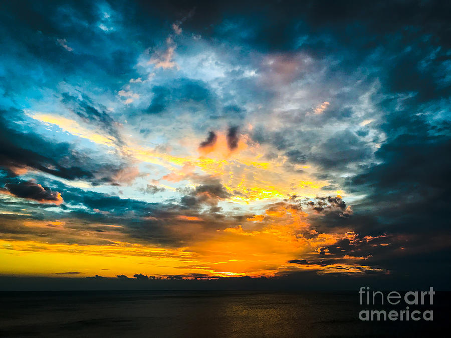 Painted Lake Erie Sky Photograph