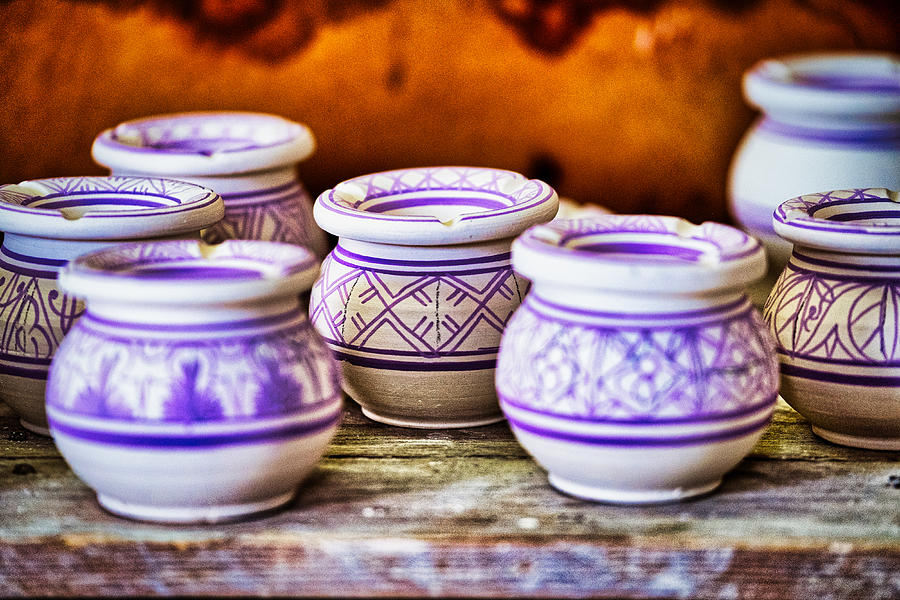 Painted Pottery - Morocco by Stuart Litoff