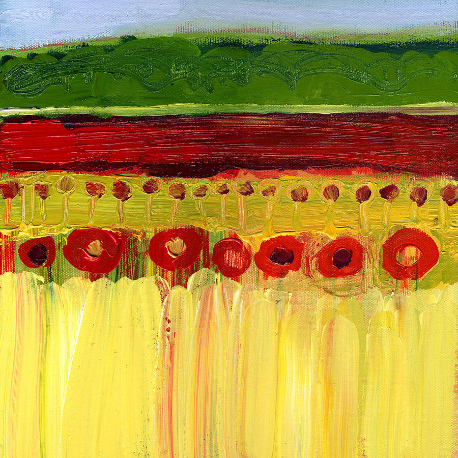 Skagit Fields In Red No 3 Painting