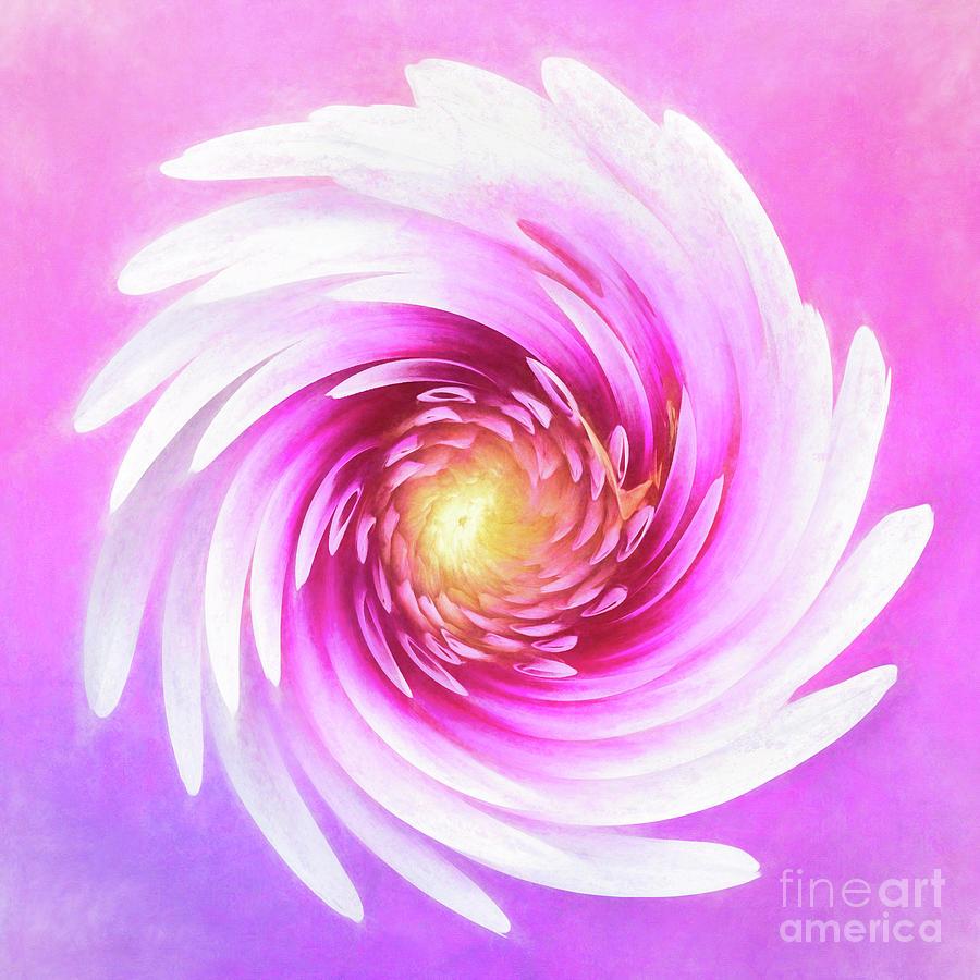 Painted Verdi Glory Dahlia Swirl by Anita Pollak