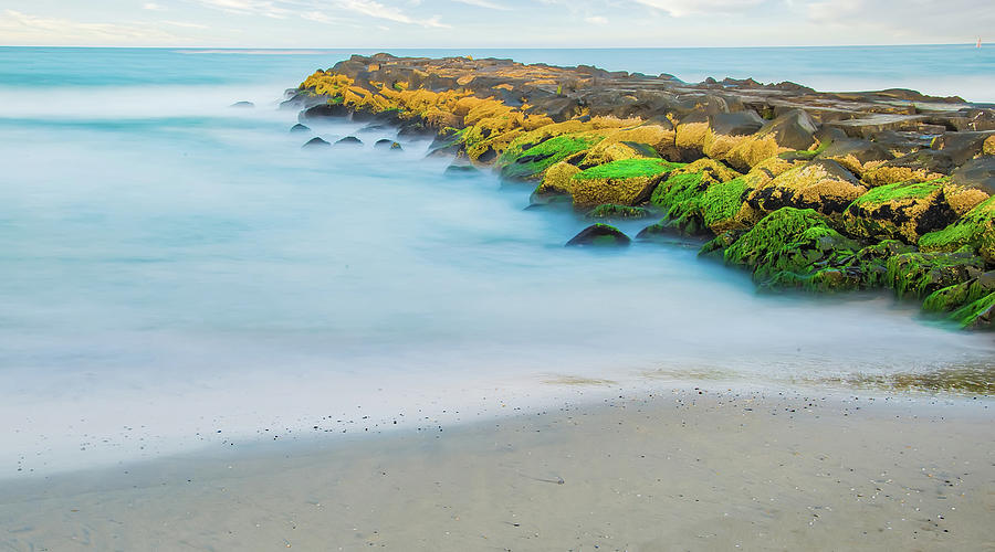 Painterly Jetty At The Beach by Gary Slawsky