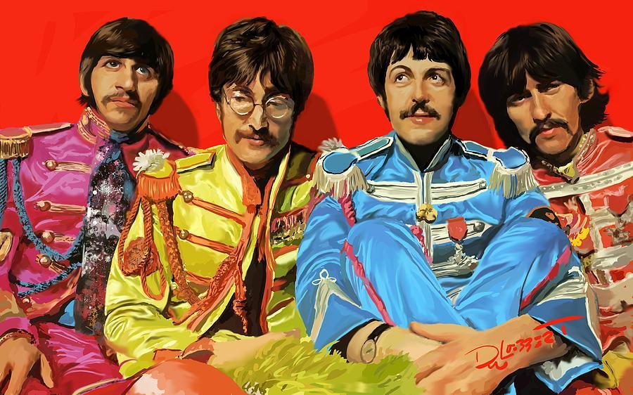 Beatles Digital Art - Painting the Beatles Video by David Luebbert