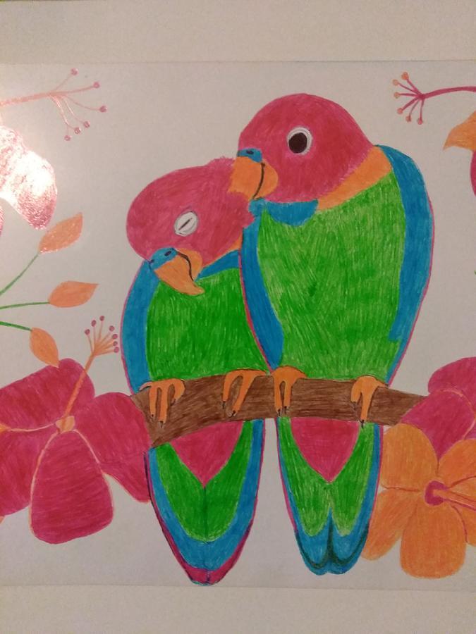 Love Birds Digital Art - Pair Of Birds by The Art Vine