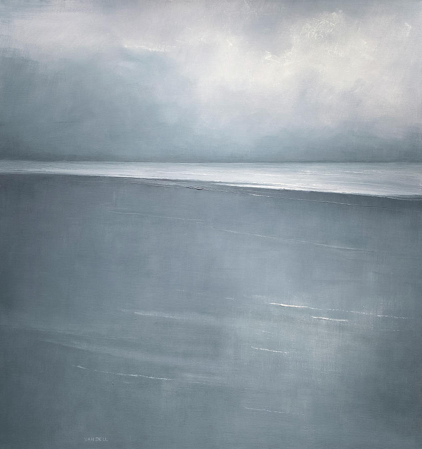 Pale Indigo Painting by Mary Jo Van Dell