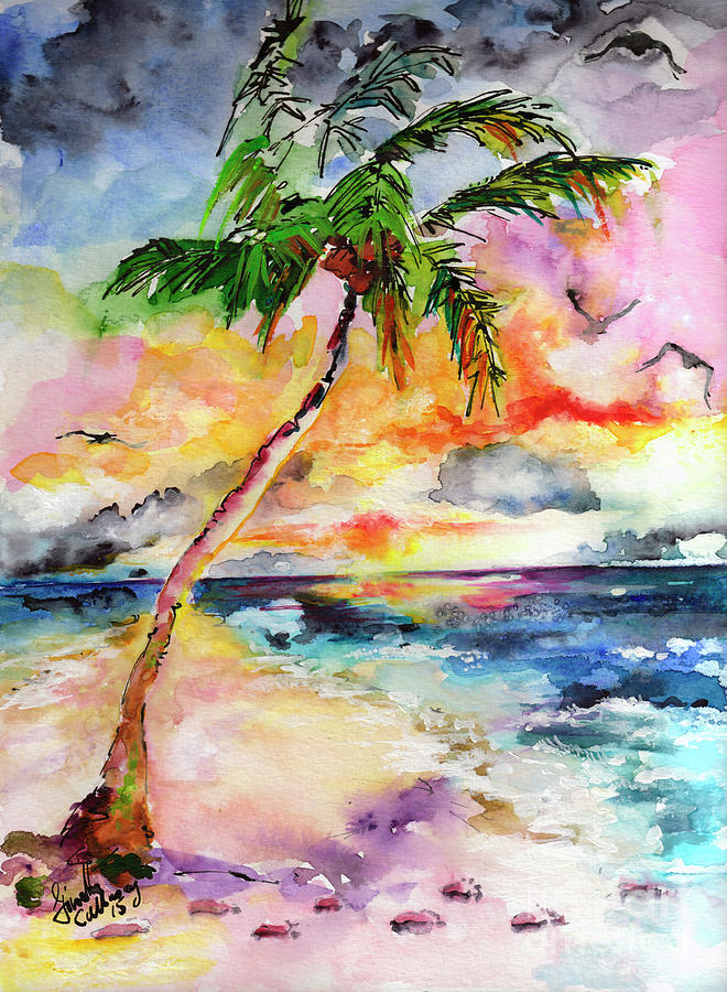 Palm Beach Hide Away  Painting by Ginette Callaway