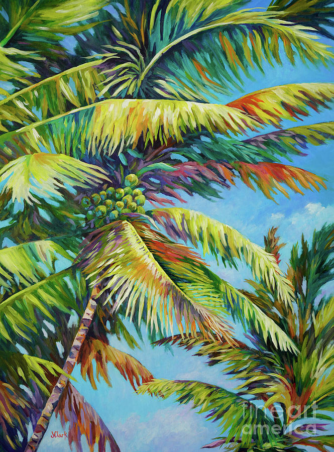 Palm Frenzy Painting