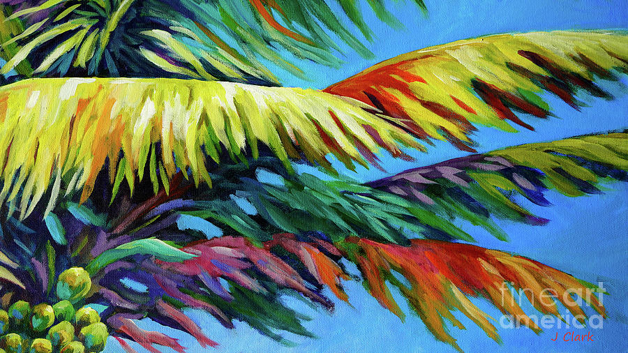 Palm Frond Frenzy Painting