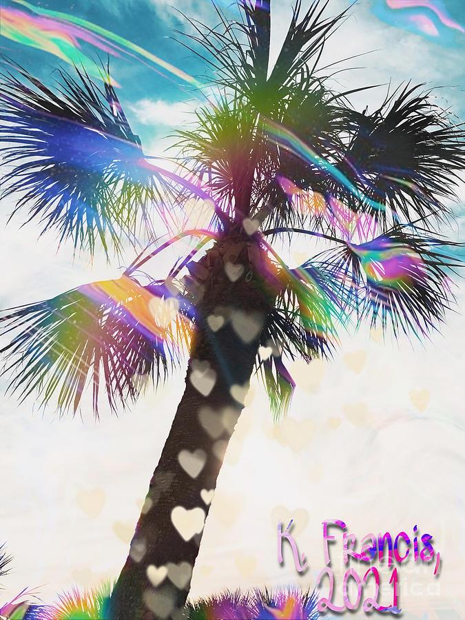 Valentine Digital Art - Palm of Hearts by Karen Francis