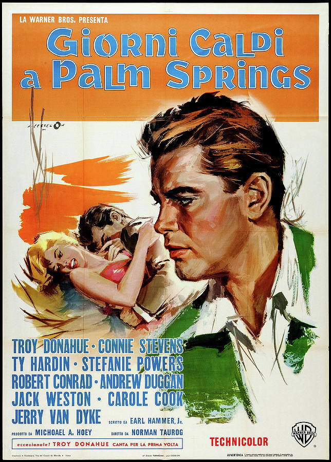 palm Springs Weekend Italian Movie Poster 1963 Mixed Media