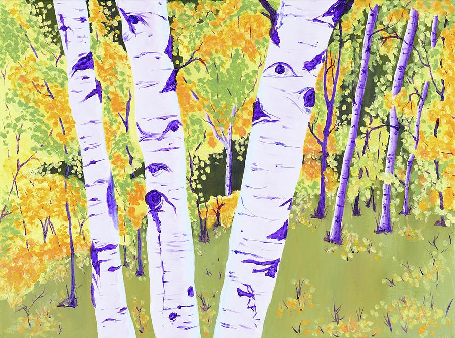 Palmer Lake Autumn Aspens Painting By Jamie Wilke